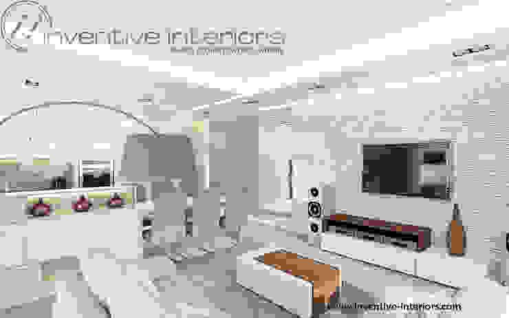 Inventive Interiors jasny przytulny salon Nowoczesny salon od Inventive Interiors Nowoczesny Kamień