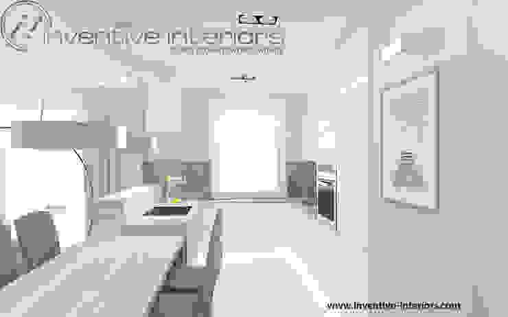 Inventive Interiors białe meble kuchenne Nowoczesna kuchnia od Inventive Interiors Nowoczesny