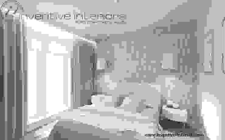 Inventive Interiors jasna przytulna sypialnia Skandynawska sypialnia od Inventive Interiors Skandynawski