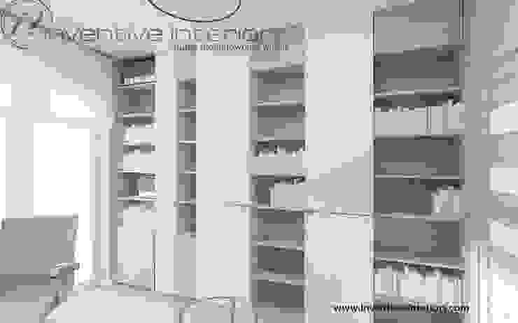 Inventive Interiors projekt zabudowy meblowej w gabinecie Nowoczesne domowe biuro i gabinet od Inventive Interiors Nowoczesny Drewno O efekcie drewna