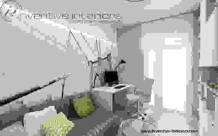 Inventive Interiors jasny przytulny gabinet Nowoczesne domowe biuro i gabinet od Inventive Interiors Nowoczesny