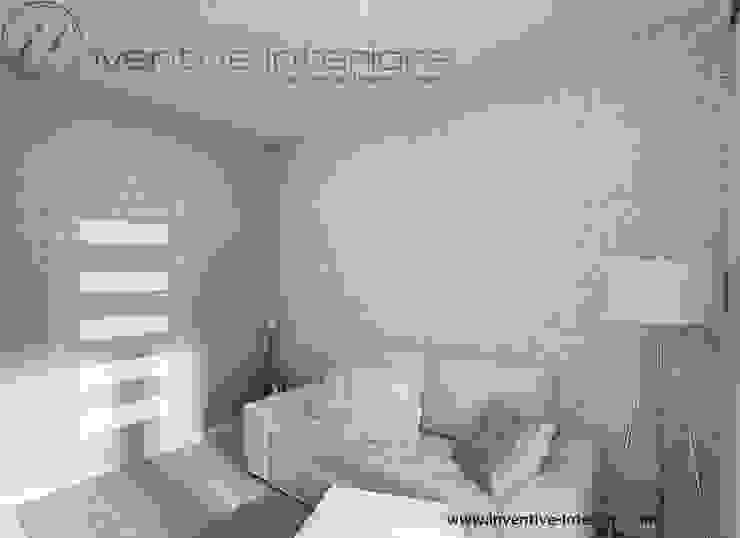 Inventive Interiors jasny przytulny pokój gościnny Skandynawska sypialnia od Inventive Interiors Skandynawski