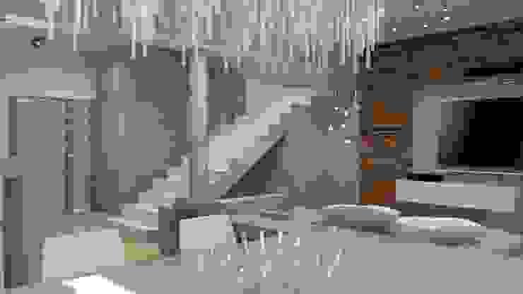Moderne Wohnzimmer von archJudyta Aranżacja Wnętrz Modern Holz Holznachbildung