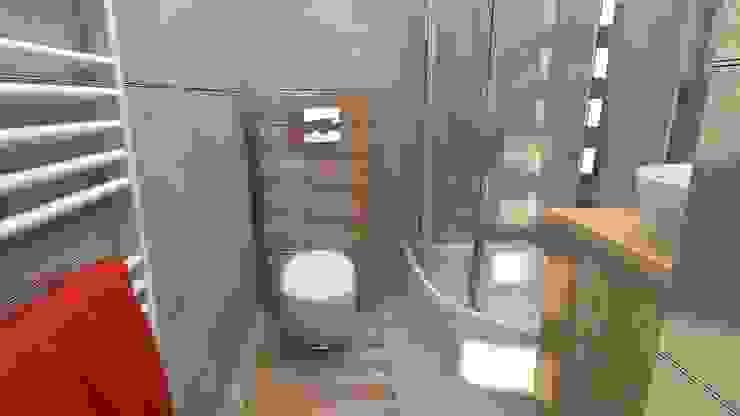 Modern Bathroom by archJudyta Aranżacja Wnętrz Modern Tiles