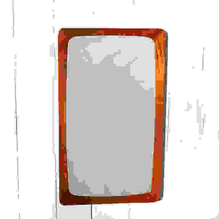 Miroir teck rectangle vintage par Perlapatrame Scandinave Bois Effet bois