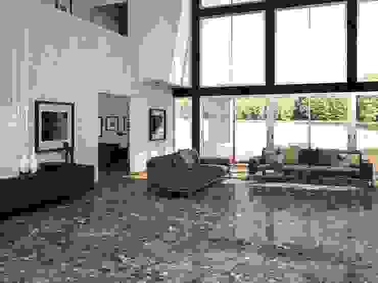 INTERAZULEJO Ruang Keluarga Modern Brown