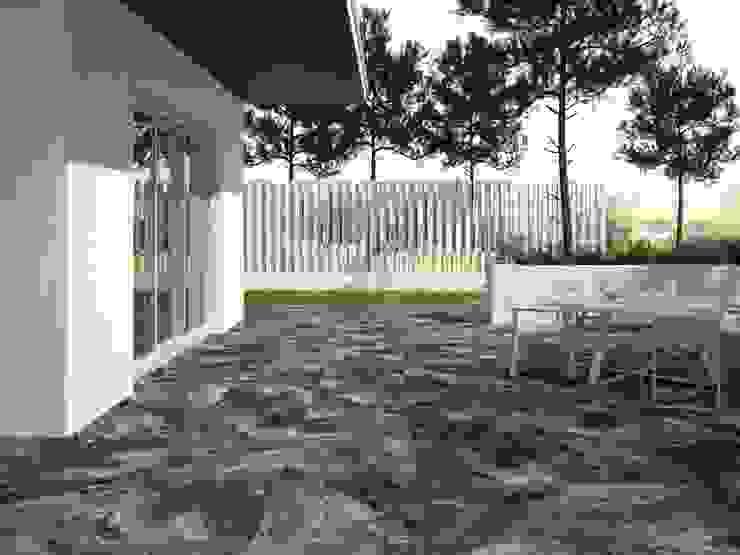 INTERAZULEJO Balkon, Beranda & Teras Minimalis Grey