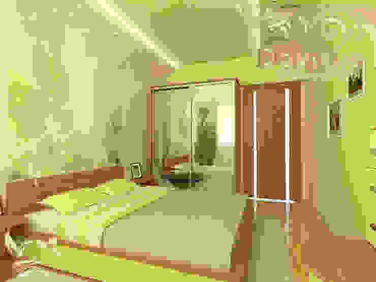 Дизайн-проект 2-комнатной квартиры Спальня в эклектичном стиле от Дизайн-студия DOMINUS Эклектичный