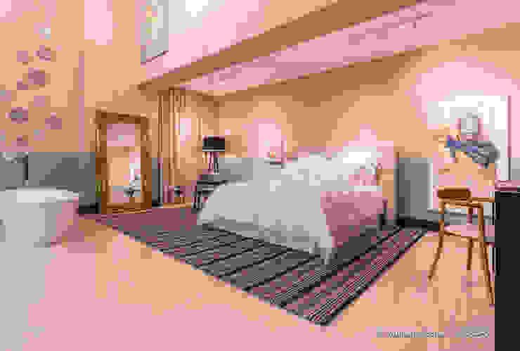 Suite Candy Colors por Jean Felix Arquitetura Minimalista Linho Rosa