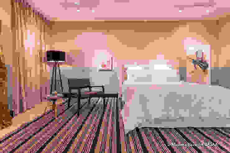 Suite Candy Colors por Jean Felix Arquitetura Minimalista Madeira maciça Multi colorido