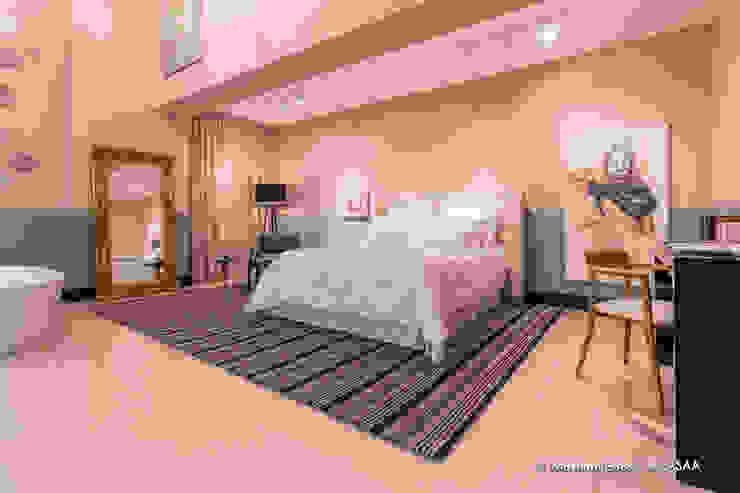Suite Candy Colors por Jean Felix Arquitetura Minimalista Algodão Vermelho