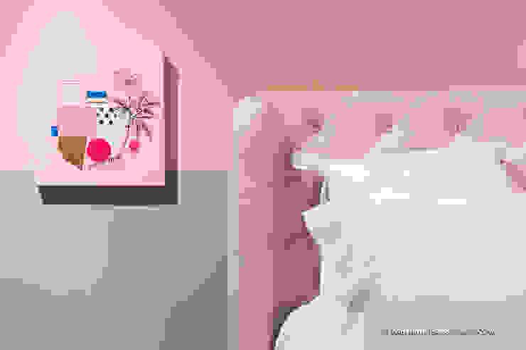 Suite Candy Colors por Jean Felix Arquitetura Minimalista Têxtil Ambar/dourado