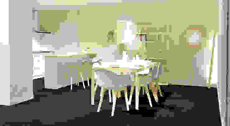 Scandinavian style dining room by Tiffany FAYOLLE Scandinavian