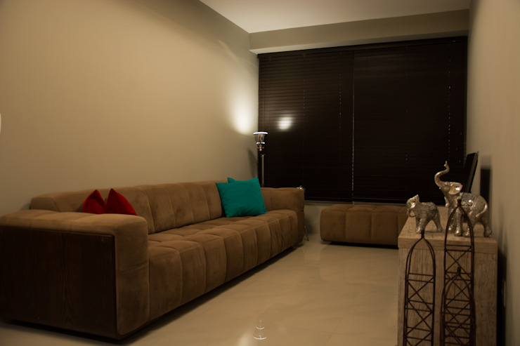 Apartamento de Casal Masculino Salas de estar minimalistas por arquiteta aclaene de mello Minimalista