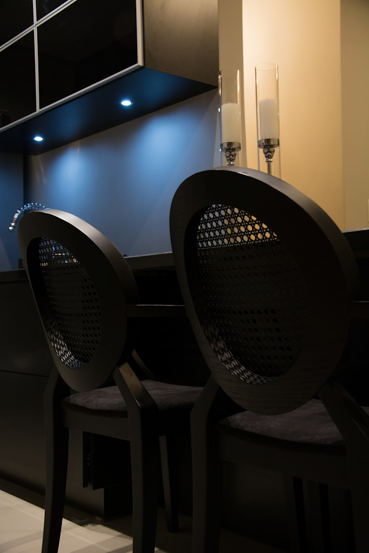 detalhes Salas de jantar minimalistas por arquiteta aclaene de mello Minimalista