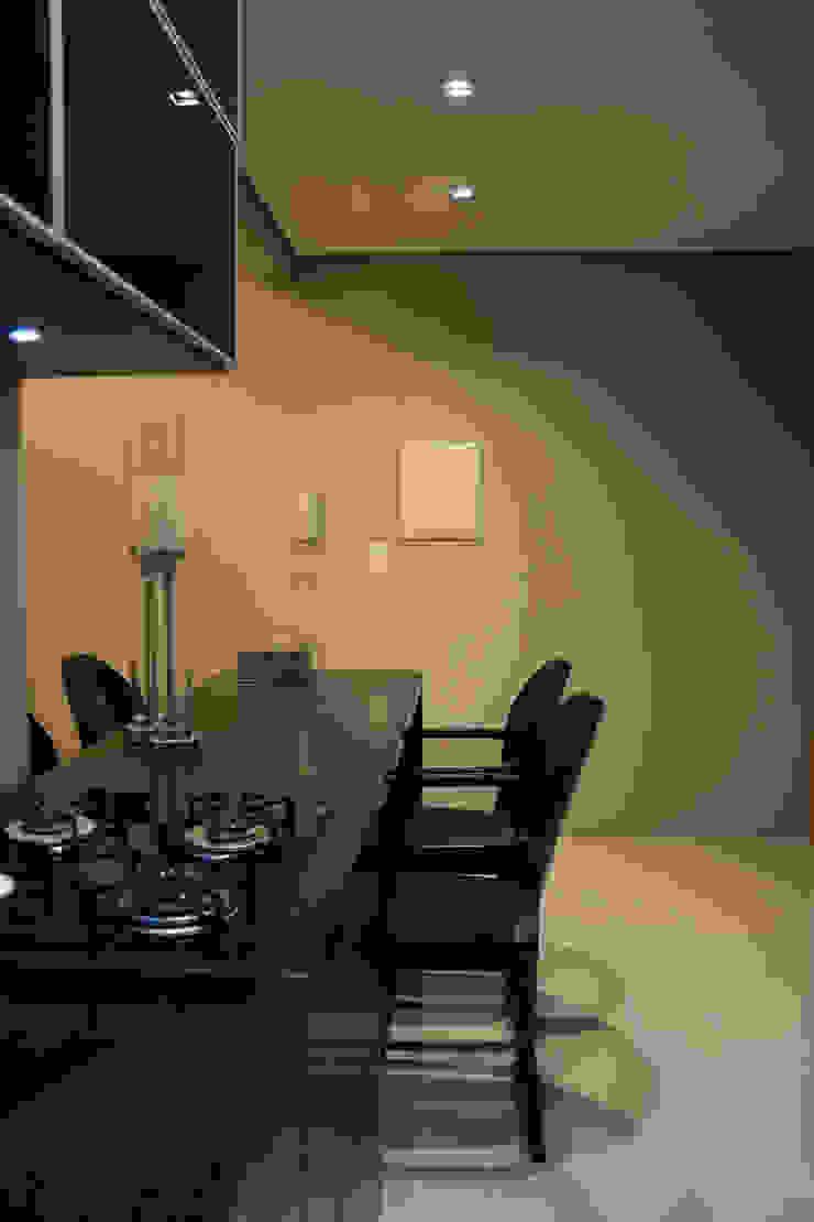 Estar e Jantar/Cozinha Integrados Salas de jantar minimalistas por arquiteta aclaene de mello Minimalista