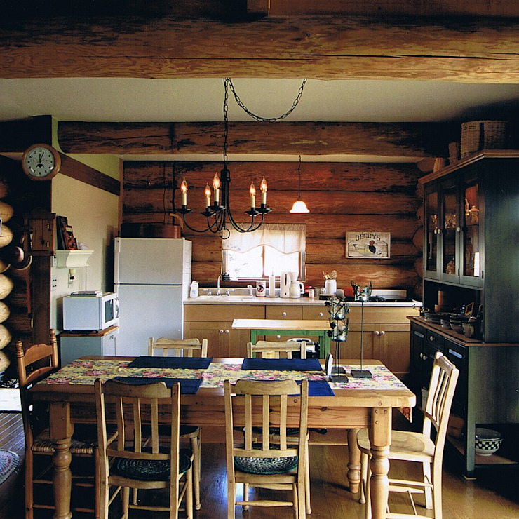 Log Cabin beside Japan Alps Cottage Style / コテージスタイル Country style dining room Wood Wood effect