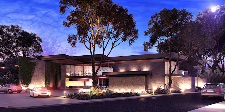 Modern houses by Esquiliano Arqs Modern