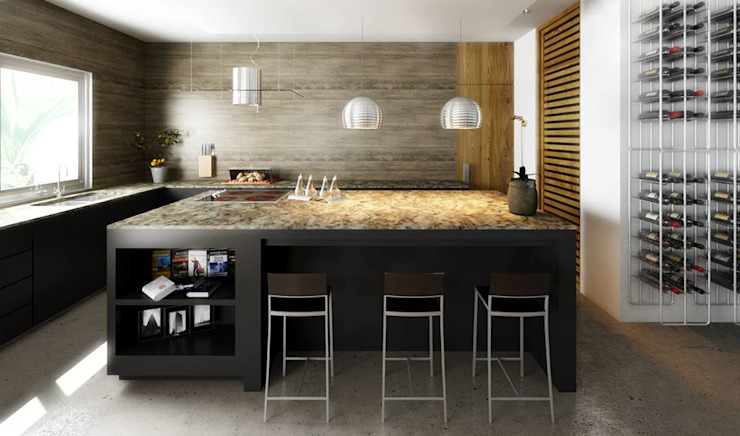 Modern kitchen by Esquiliano Arqs Modern