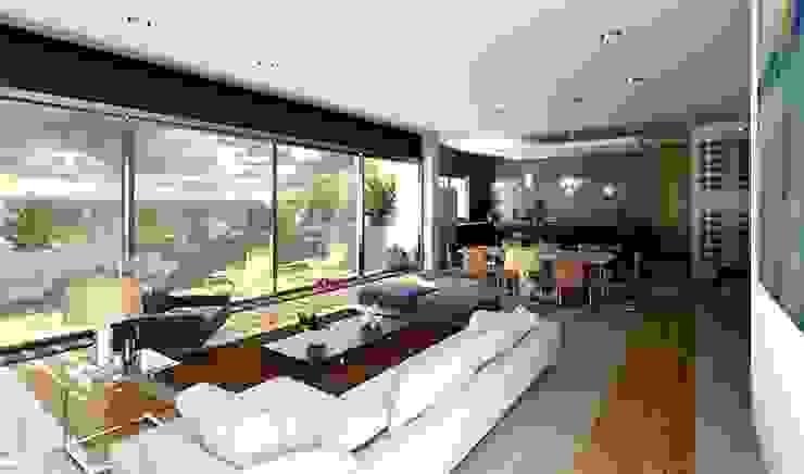 现代客厅設計點子、靈感 & 圖片 根據 Esquiliano Arqs 現代風