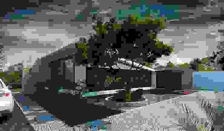 現代房屋設計點子、靈感 & 圖片 根據 Esquiliano Arqs 現代風