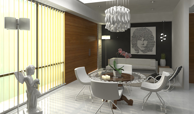 Modern dining room by Esquiliano Arqs Modern