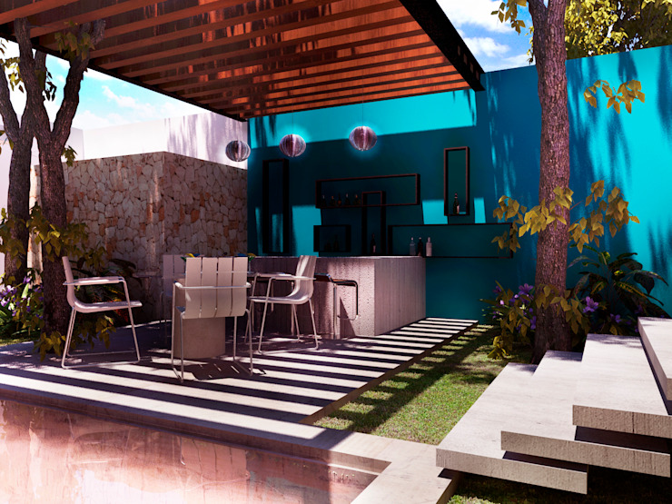 Terrace by Esquiliano Arqs,