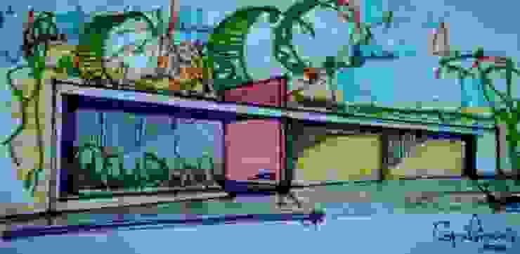 Fachada Sketch Casas modernas de Esquiliano Arqs Moderno