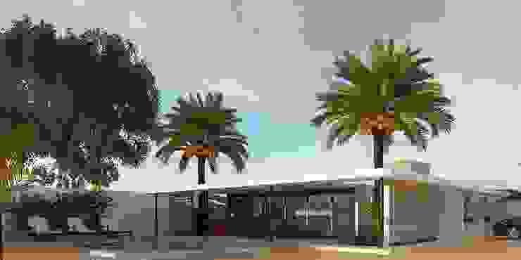 Fachada principal Casas modernas de Esquiliano Arqs Moderno