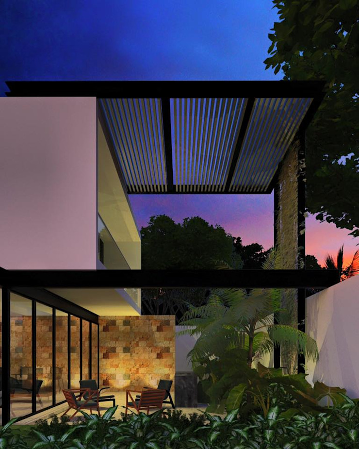 BL CC Balcones y terrazas minimalistas de Esquiliano Arqs Minimalista