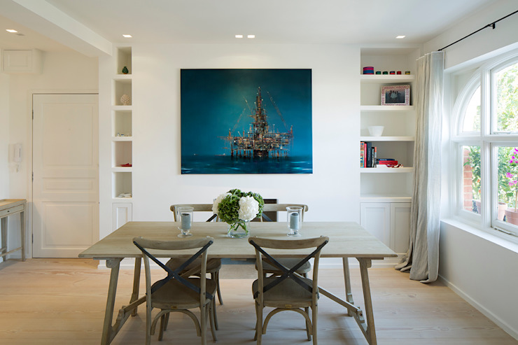 BIDDULPH MANSIONS, MAIDA VALE Modern Dining Room by Ardesia Design Modern