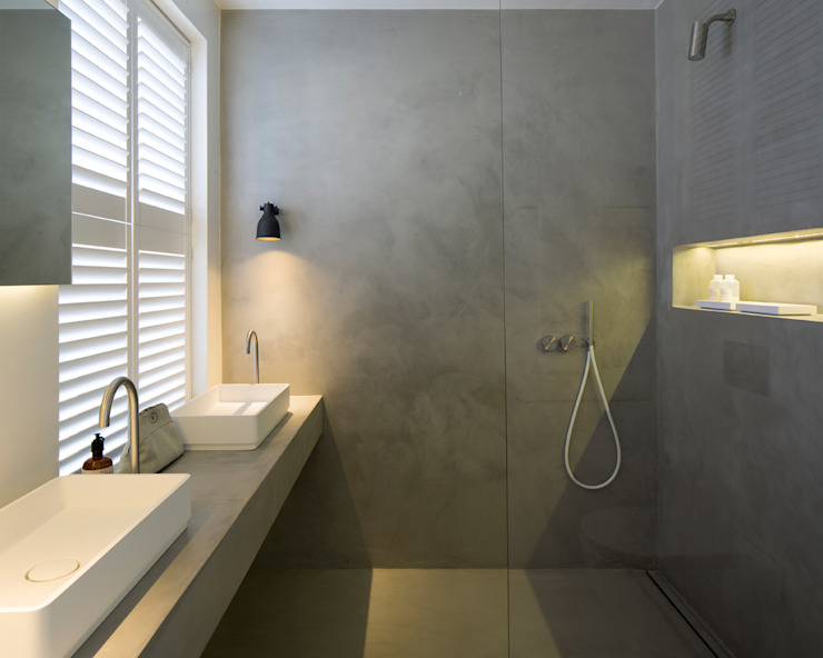 BIDDULPH MANSIONS, MAIDA VALE Ardesia Design Modern bathroom Grey