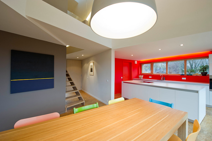 Maison passive Servais - Van de Veken Cuisine minimaliste par artau architectures Minimaliste