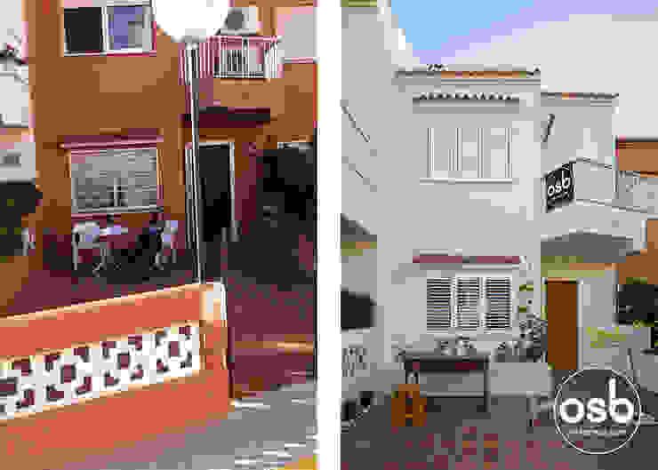 fachada antes y después de osb arquitectos Mediterráneo