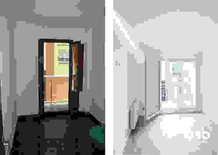 salón antes y después de osb arquitectos Moderno