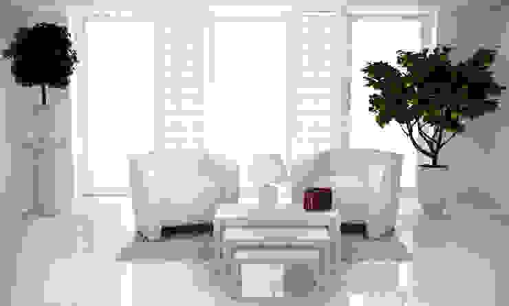 Tapeta w małe romby biało-miętowa Skandynawskie ściany i podłogi od Dekoori Skandynawski