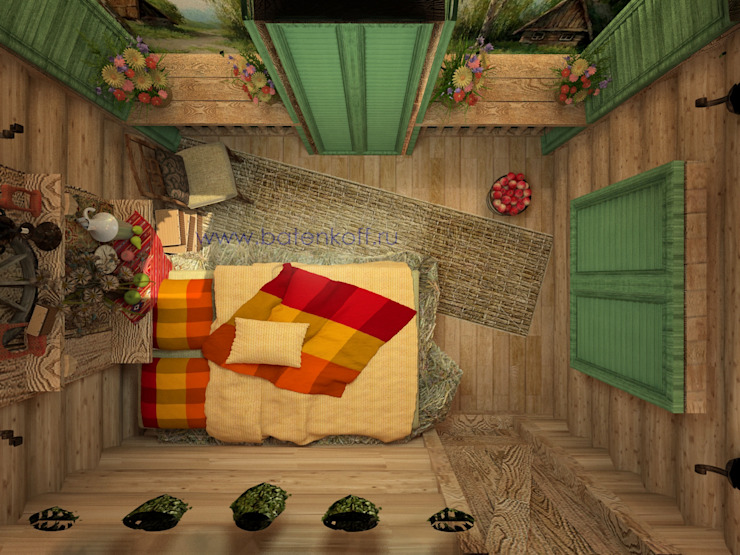 Cuartos de estilo tropical de homify Tropical Madera Acabado en madera