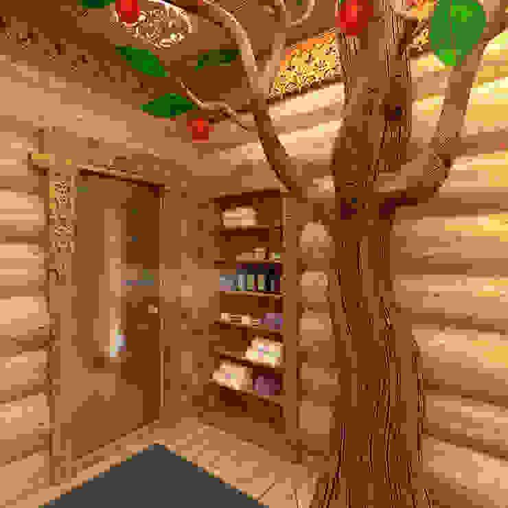 Спа в . Автор – homify, Эклектичный Твердая древесина Многоцветный
