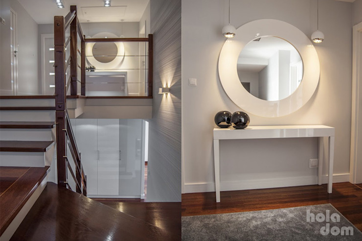 HOLADOM Ewa Korolczuk Studio Architektury i Wnętrz Paredes y pisos de estilo minimalista