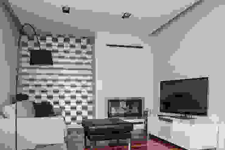 HOLADOM Ewa Korolczuk Studio Architektury i Wnętrz Salas de estilo minimalista