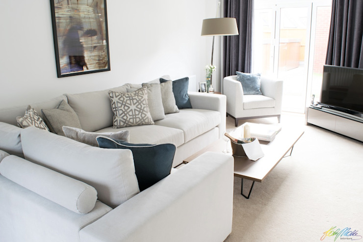 Contemporary Living Room Salas modernas de Katie Malik Interiors Moderno