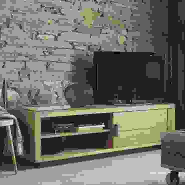 Meubles TV en chêne massif par Shopping Meubles Rustique