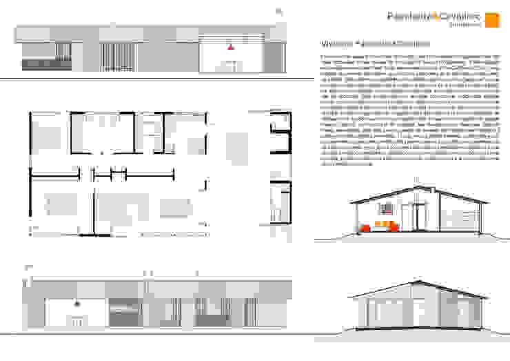 Vivienda Paschetta&Cavallero Casas de estilo rural de Paschetta&Cavallero Arquitectos Rural