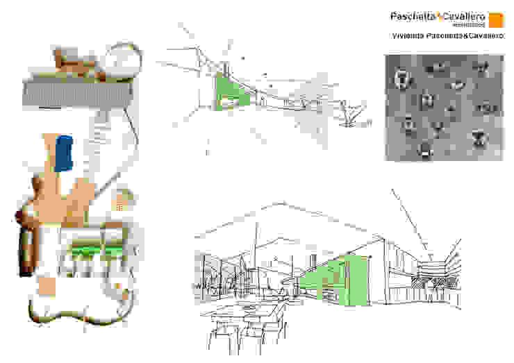 Casas de estilo  por Paschetta&Cavallero Arquitectos