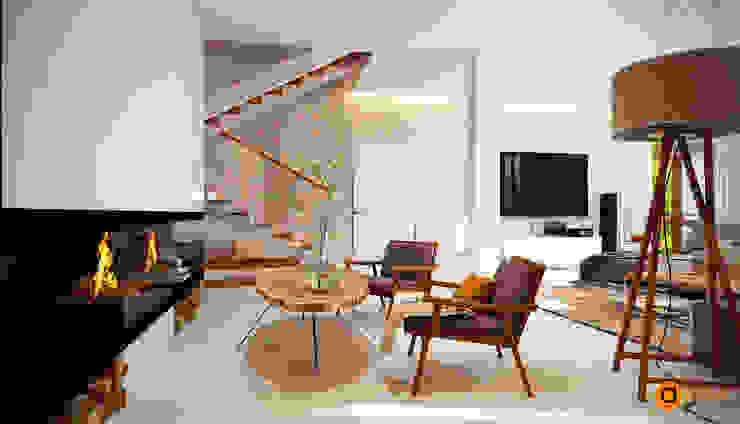 WHITE TREE living room Гостиная в скандинавском стиле от Artichok Design Скандинавский