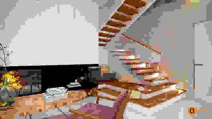 Salones de estilo escandinavo de Artichok Design Escandinavo