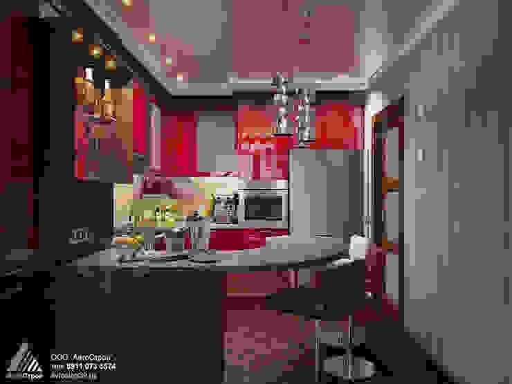 2-х км. квартира на ул. Гайдара Кухни в эклектичном стиле от homify Эклектичный Алюминий / Цинк