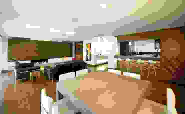 APARTAMENTO ROSALES - Mobiliario fijo Salas modernas de Mako laboratorio Moderno
