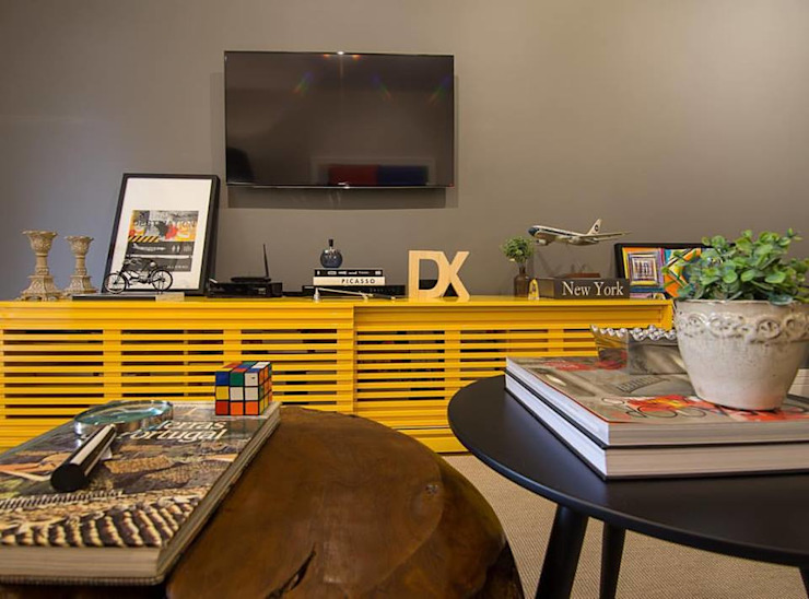 Apartamento Leblon Salas de estar modernas por Duplex Interiores Moderno
