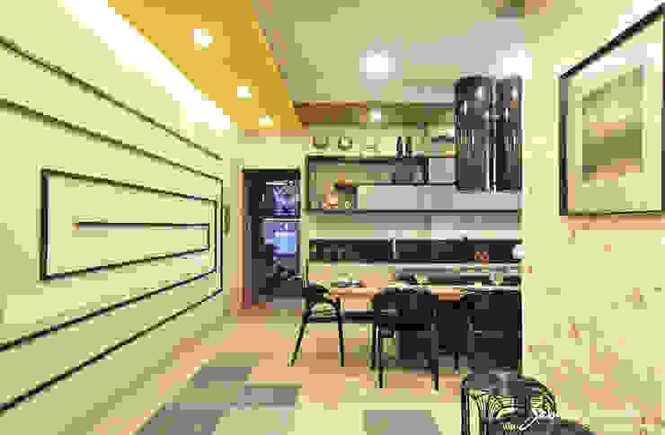 Cozinha Gourmand Lounge Cozinhas ecléticas por Samira Jarouche Arquitetura & Interiores Eclético